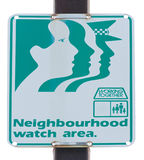 Neighbourhood watch area road sign Stock Photos