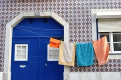 Neighbours. Home in lisboa' street. lisboa, portugal 2016 Royalty Free Stock Photography