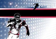 Neigung des amerikanischen Fußballs Stockbilder