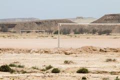Neigung mitten in der Wüste Stockbild