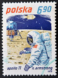 Neil Armstrong och Apollo 11 Fotografering för Bildbyråer