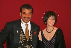 Neil deGrasse Tyson en Alice Young royalty-vrije stock fotografie