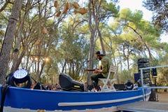 Neil Halstead-band in overleg in Vida Festival Royalty-vrije Stock Afbeeldingen