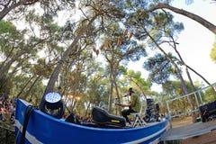 Neil Halstead-band in overleg in Vida Festival Royalty-vrije Stock Foto