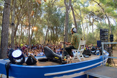 Neil Halstead (bande) de concert chez Vida Festival Image stock