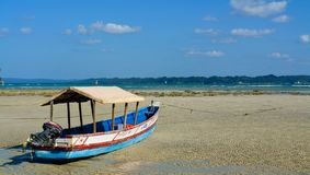 Neil Island, Índia - 30 de novembro de 2018: Praia de Bharatpur em Neil Island, parte de Andaman & ilhas Nicobar na Índia fotos de stock