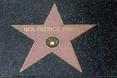 Neil Patrick Harris-Stern auf dem Hollywood-Weg des Ruhmes lizenzfreies stockbild