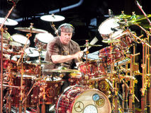 Neil Peart of Rock Group Rush. Percussionist and lyricist of the Canadian rock group Rush. This rock band formed in 1968 and over their careers, the members of Royalty Free Stock Photo