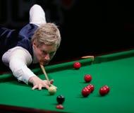 Neil Robertson bawić się życzliwego turniej w Bucharest Zdjęcie Stock