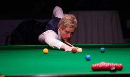 Neil Robertson plays friendly tournament in Bucharest Stock Images