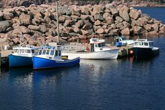 Neil's Harbour Fishing Boats Stock Photography