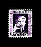 ` Neill di Eugene O 188-1953, drammaturgo, serie famoso degli Americani, circa 1973 Fotografia Stock Libera da Diritti