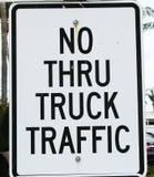 Nein durch LKW-Verkehr lizenzfreie stockfotografie