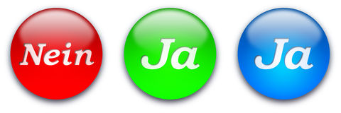 Nein - Ja button stock photo