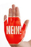 Nein/ No Royalty Free Stock Images