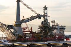 Nein Schiff 7 im Dock Stockfotografie