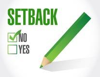 nein zu einem Rückschlag Check-Listen-Illustrationsdesign Lizenzfreies Stockbild