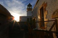 Neist点灯塔,斯凯岛,苏格兰小岛  免版税图库摄影