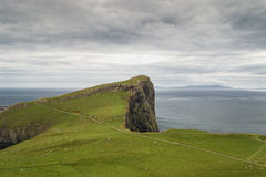 Neist pekar fyren i Isle av Skye, Skottland arkivfoton