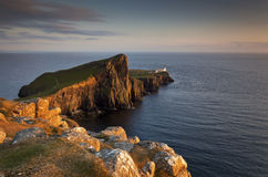 Neist Point II. Neist Point Lighthouse, Isle of Skye, Scotland, UK Stock Images
