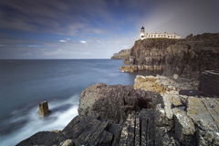Neist Point III. Neist Point Lighthouse at sunrise, Isle of Skye, Scotland, UK Stock Photos