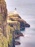 Neist Point Lighthouse, famous photographers location Royalty Free Stock Images