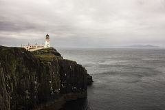 Neist Point Lighthouse in the Isle of Skye.  Royalty Free Stock Images