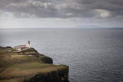 Neist Point Lighthouse on the Isle of Skye. Neist Point Lighthouse on the cliff of the Isle of Skye, scotland uk Royalty Free Stock Photos