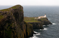 Neist Point lighthouse in Isle of Skye, Scotland Royalty Free Stock Images