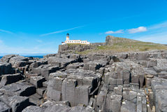 Neist Point Lighthouse Royalty Free Stock Photography