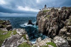 Neist point Lighthouse, Isle of Skye, Scotland Royalty Free Stock Photography