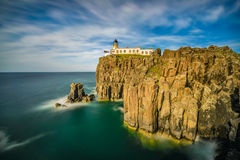 Neist Point lighthouse at Isle of Skye in Scotland Royalty Free Stock Image