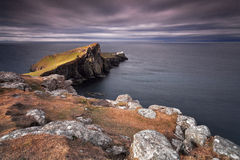 Neist Point. Lighthouse, Isle of Skye, Scotland, UK Royalty Free Stock Image