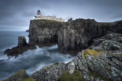 Neist Point Lighthouse, Isle of Skye. Stunning view of Neist point: a lighthouse on the Isle of Skye in Scotland Royalty Free Stock Photos