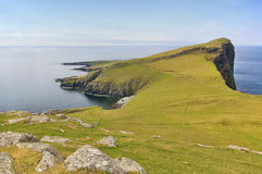 Neist Point with steep cliffs and the sea Stock Photo