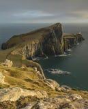 Neist punktu latarnia morska na wyspie Skye zdjęcia stock