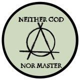 Neither god nor master. Anarchy logo illustration;  image Stock Image
