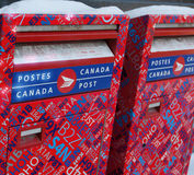 Neither Sleet nor Snow...Canadian Mailboxes Royalty Free Stock Photography