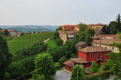 Neive, Langhe region. Piemonte, Italy. View of the Neive village. Langhe, the main Piedmont wine producing area. Barolo and Barbaresco. Unesco world heritage royalty free stock photos