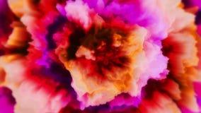 Nejlika //1080p blomning-som den videopd bakgrundsöglan stock illustrationer
