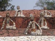 Nek Chand假山花园,昌迪加尔,印度 免版税库存图片