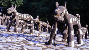 Nek Chand的假山花园昌迪加尔印度 免版税库存图片