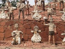 Nek Chand Rock Garden, Chandigarh, Inde Images libres de droits