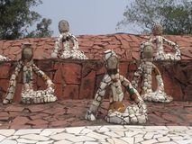 Nek Chand Rock Garden, Chandigarh, Inde Image libre de droits