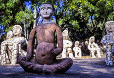 Nek Chands Rock Garden Chandigarh India. Sculptures made out of recycled waste materials in Nek Chands Rock Garden. Chandigarh, India stock photo