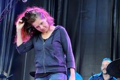 Neko Case, Amerikaanse zanger-songwriter, presteert bij het Correcte 2013 Festival van Heineken Primavera Stock Foto