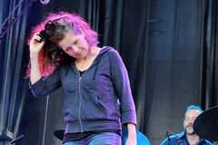 Neko Case, amerikanischer SängerTexter und Komponist, führt an Ton-Festival 2013 Heinekens Primavera durch Stockfoto