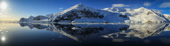 Neko Harbor Panorama, Antarctica Royalty Free Stock Image