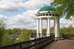 Nekrasovskaya arbor. Russia, Yaroslavl. Nekrasovskaya arbor on the bank of the Kotorosl River Stock Photography