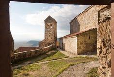Nekresi kloster, Georgia Forntida tegelstenväggar av den ortodoxa kloster, restes upp i det 4th - 7th århundradet Arkivbilder
